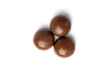 Chocolate Sweet Isolated On White Background.
