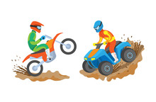 Extreme Sports Of Men Vector, ...