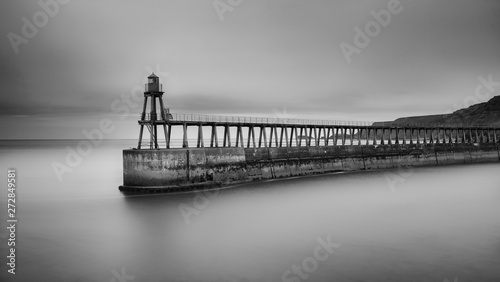 Wall Murals Dark grey Whitby Pier