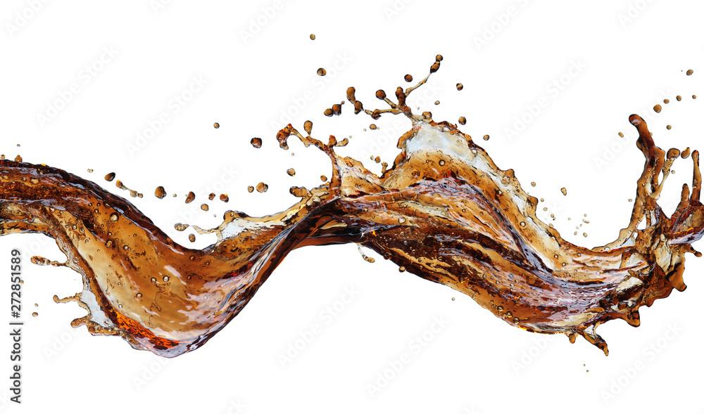 Fototapety, obrazy: Cola splash isolated