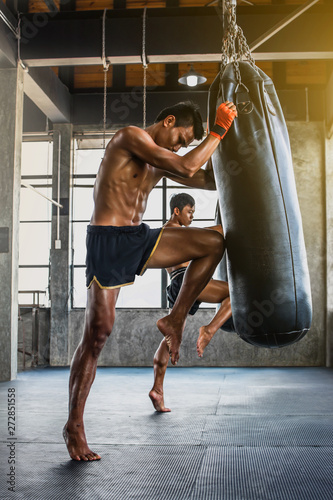 Fotografie, Obraz  Boxers are diligent, trained to be brave for victory on the boxing ring