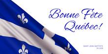 Quebec National Day Vector Ban...