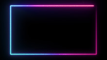 Neon Glowing Frame Background....