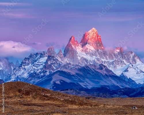 Mount Fitz Roy or Chaltan, in the Andes Range, Argentina