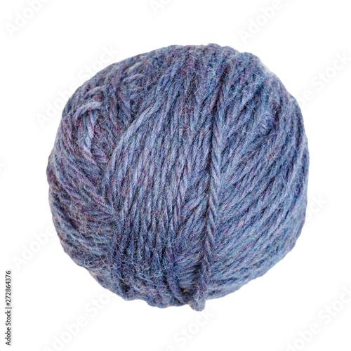 skein of melange blue yarn isolated on white Fototapet