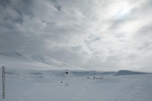 Cuadros en Lienzo Issız karlı dağ manzarası