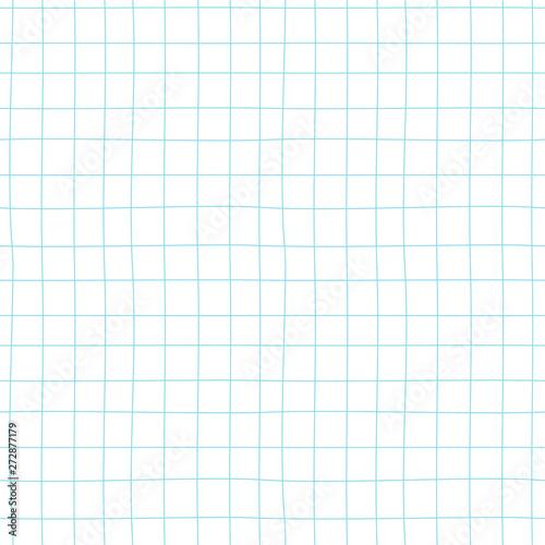 Checkered Notebook Sheet Vector Seamless Pattern Blank