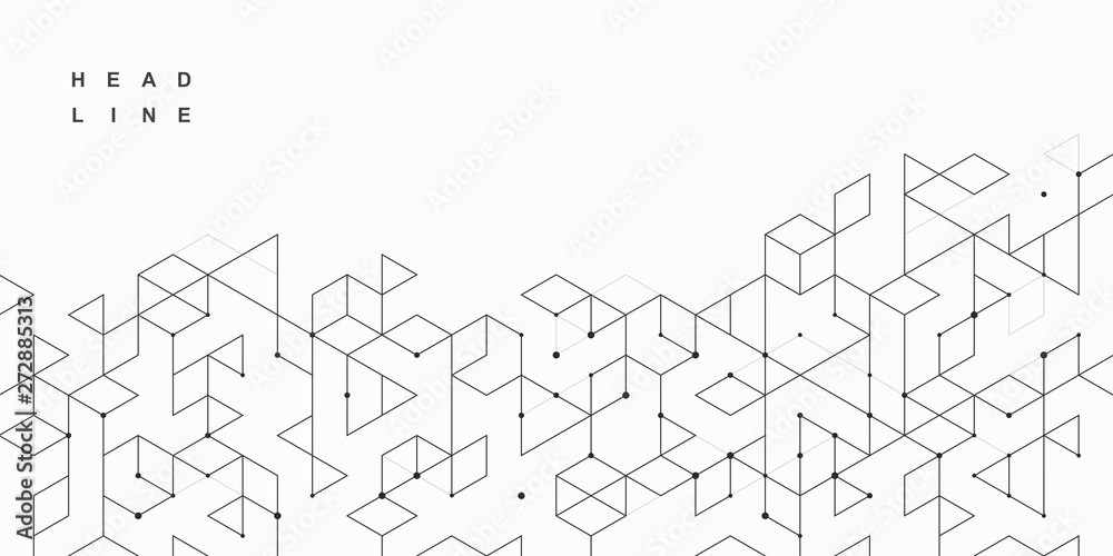 Fototapeta Abstract geometric technological background. Vector creative design.