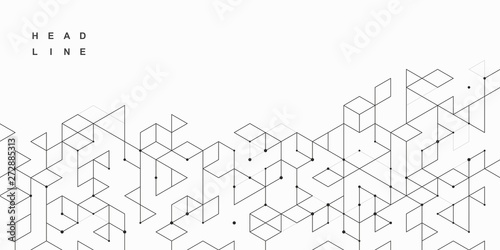 Obraz Abstract geometric technological background. Vector creative design. - fototapety do salonu