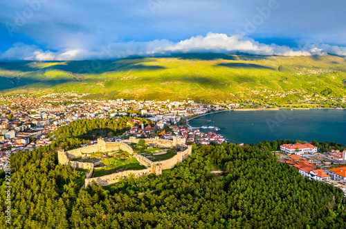 Foto op Canvas Noord Europa Samuels Fortress at Ohrid in North Macedonia