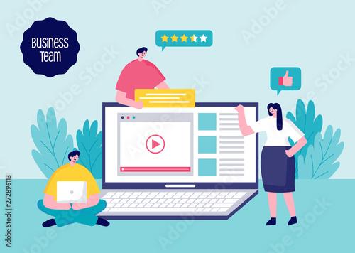 Business Concept. Team Work. Vector illustration flat design.
