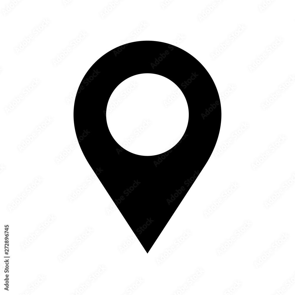 Fototapety, obrazy: Location pin icon flat vector illustration design