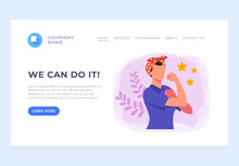 We Can Do It Banner Web Page S...