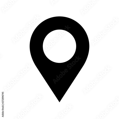 Location pin icon flat vector illustration design Wall mural