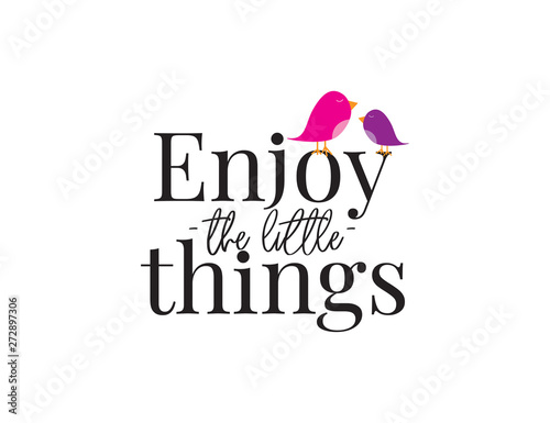Wall Decals Vector Enjoy The Little Things Wording