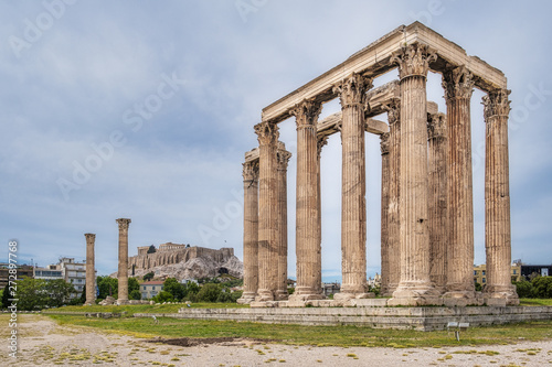 The Temple of Zeus with the Acropolis in the background