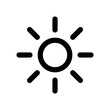 Screen brightness sun icon flat vector illustration design