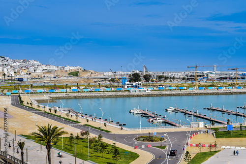 Valokuvatapetti Panoramic View of Marina Tangier, Tangier City, Morocco