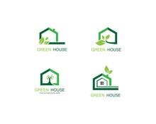 Green House Vector Icon Illustration Design