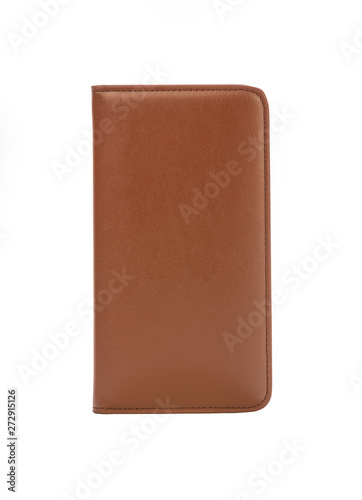 leather notebook isolated on white background. #272915126