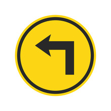 Road Sign Vector Icon Isolated...
