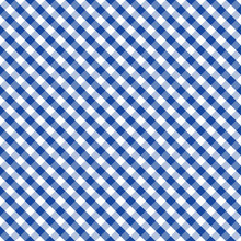 Gingham Seamless Check Cross Weave Pattern, Blue And White, EPS8 Includes Pattern Swatch That Seamlessly Fills Any Shape, For Arts, Crafts, Fabrics, Picnics, Home Decor, Scrapbooks.