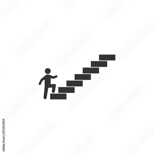 Slika na platnu Man on stairs going up