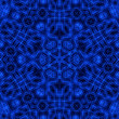 canvas print picture - Blue abstract pattern