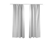 White Grey Curtains Isolated On White Background