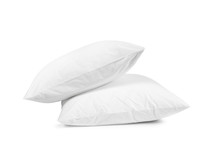 Two White Pillows Isolated, Pi...