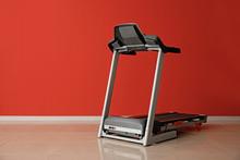 Modern Treadmill Near Color Wall