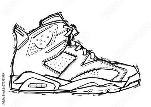 Valokuvatapetti sneakers on a white background