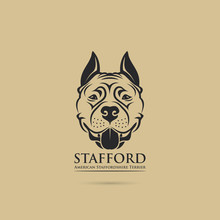 American Staffordshire Terrier Dog - Isolated Vector Illustration - Vector