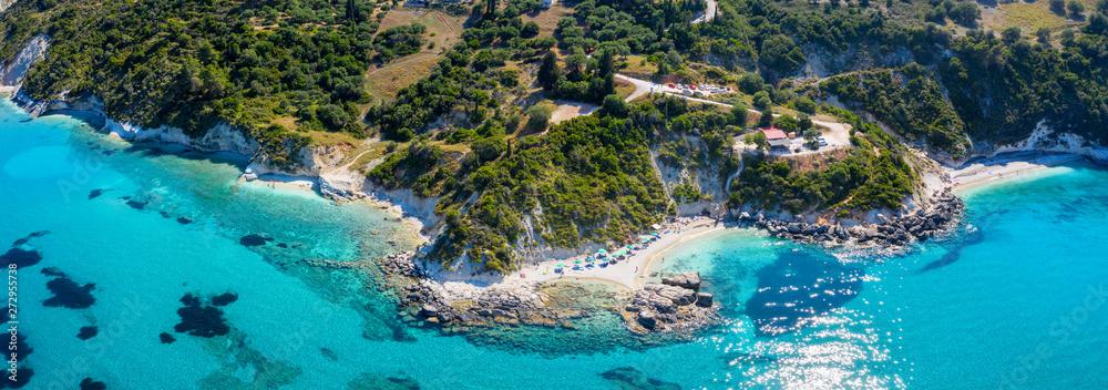 Panorama der Küste rund um den Xigia Strand in Zakynthos, Ionische Inseln, Griechenland