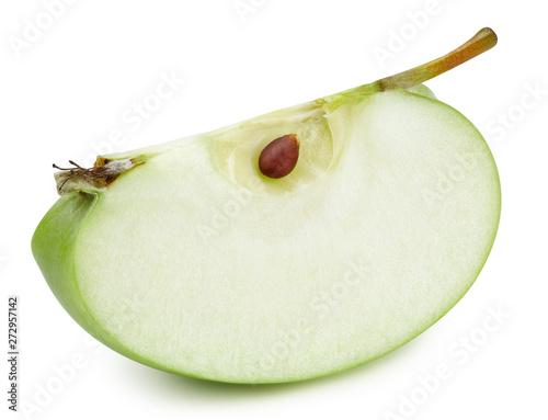 Green apples slice isolated on white Fototapeta