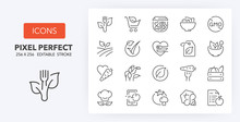 Healthy Food Line Icons 256 X 256