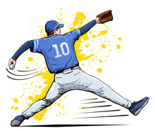 Vector Illustration Of A Baseb...