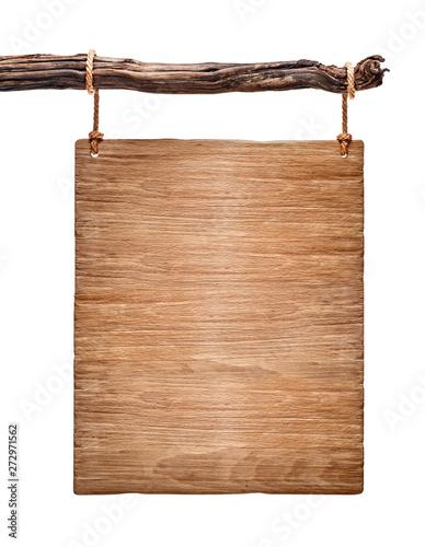 vertical light wood signboard