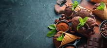Chocolate Ice Cream With Choco...