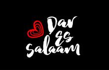 Dar Es Salaam City On Black Ba...