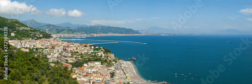 Panorama of the Gulf of Salerno, seen from the city of Raito, during a sunny sum Fototapeta