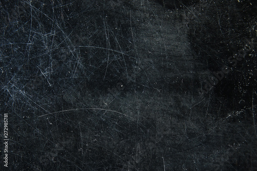 Fotografía  scratch black background overlay / abstract black dark background, broken cracks