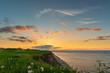 canvas print picture - Sonnenuntergang Steilküste