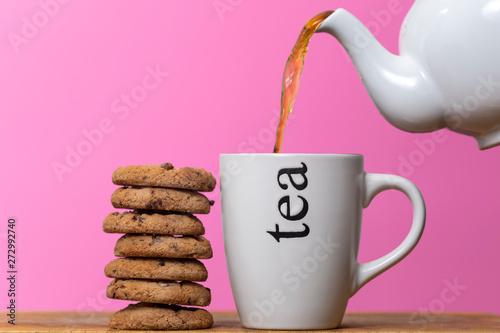 Tea and biscuits Fototapeta