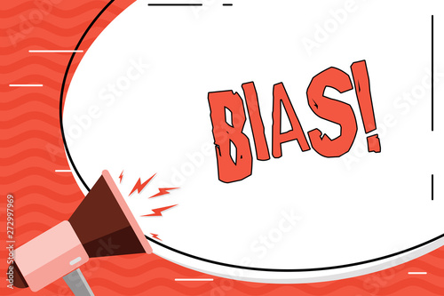 Fotografia, Obraz  Word writing text Bias