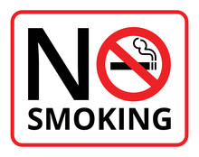 Warning Signs And Symbols No Smoking, Stop Smoking, Save Your Life.