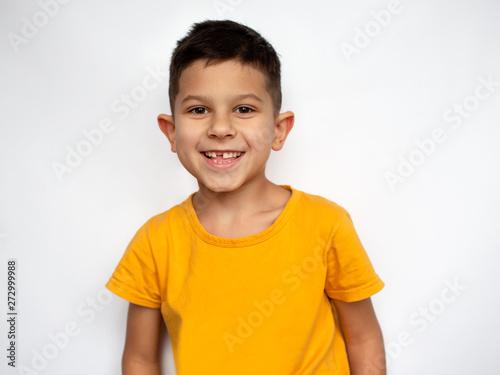 Obraz Portrait of cute smiling little boy - fototapety do salonu
