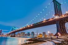 Manhattan Bridge In New York, United States.