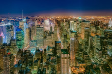 Dusk In Midtown, New York, Uni...