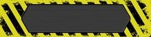 Grunge Banner With Warning Sym...